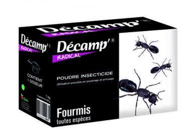 Poudre anti-fourmis et insectes rampants Decamp'radical