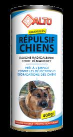 Ce répulsif en granulé agit sur l'odorat des chiens. Il les éloigne radicalement et permet d'éviter leurs nuisances