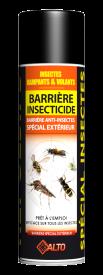 Cette barrière Anti-Insectes empêche l'intrusion, le passage, la nidation des insectes rampants et volants. Après évaporation, il forme une barrière mortelle contre ces derniers.