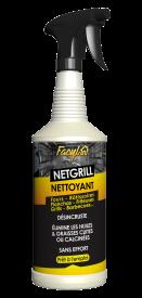 NETGRILL désincruste et élimine les huiles et graisses cuites ou calcinées à l'intérieur des fours, des rôtissoires, friteuses, pianos, planchas, etc ...