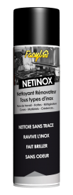 NETTOYANT RÉNOVATEUR TOUS TYPES D'INOX - Plans de travail - Hottes - Réfrigérateurs - Cuves - Matériels - Crédences...