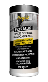 LINGETTES NETTOYANTES TRACES DE COLLE, MASTIC, GRAISSE...SPÉCIAL HUISSERIES - VITRES - PVC - ALU