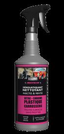 INSECTI'KLEAN est un produit de nettoyage spécialement conçu pour enlever les insectes morts, collés et les fientes d'oiseaux sur toutes les parties extérieures des véhicules.