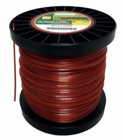 Bobine de fil nylon carré pour débroussailleuse 3mm 174m