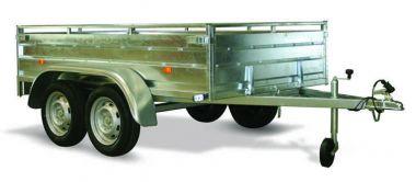 Remorque tole non freinée ERDE LC252 double essieu