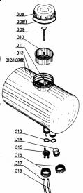 Réservoir complet pour atomiseur verts Loisirs VLK45